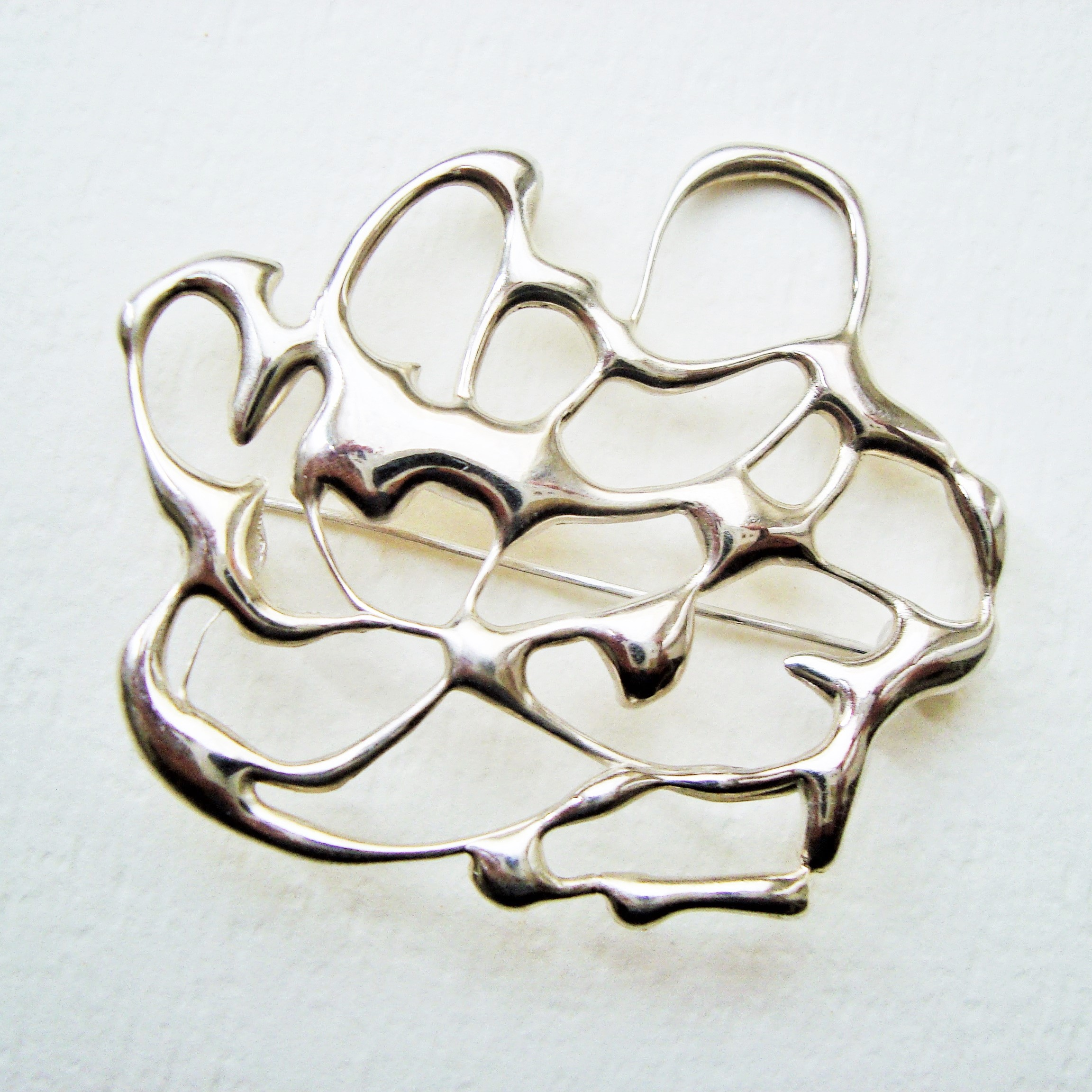 brooch in sterling silver
